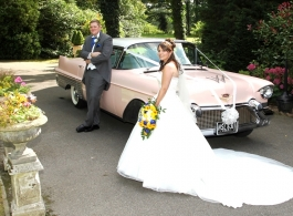 Pink Cadillac for weddings in Brighton